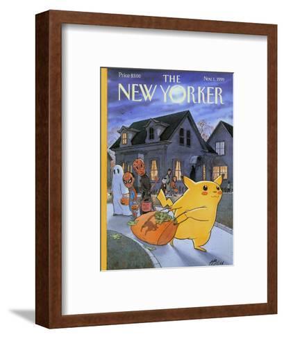 The New Yorker Cover - November 1, 1999-Harry Bliss-Framed Art Print