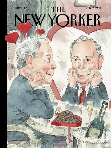 The New Yorker Cover - February 7, 2011-Barry Blitt-Stretched Canvas Print