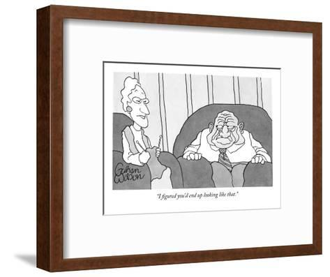 """I figured you'd end up looking like that."" - New Yorker Cartoon-Gahan Wilson-Framed Art Print"