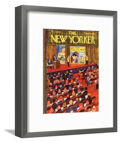 The New Yorker Cover - May 9, 1964-Anatol Kovarsky-Framed Art Print