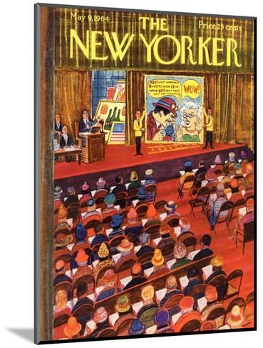 The New Yorker Cover - May 9, 1964-Anatol Kovarsky-Mounted Premium Giclee Print