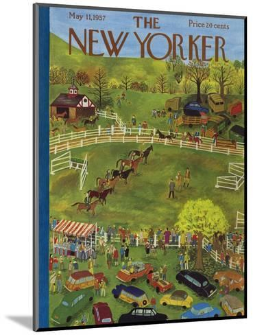 The New Yorker Cover - May 11, 1957-Ilonka Karasz-Mounted Premium Giclee Print