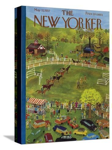 The New Yorker Cover - May 11, 1957-Ilonka Karasz-Stretched Canvas Print