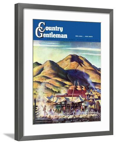 """Sheep Farm,"" Country Gentleman Cover, May 1, 1942-Jean L. Huens-Framed Art Print"