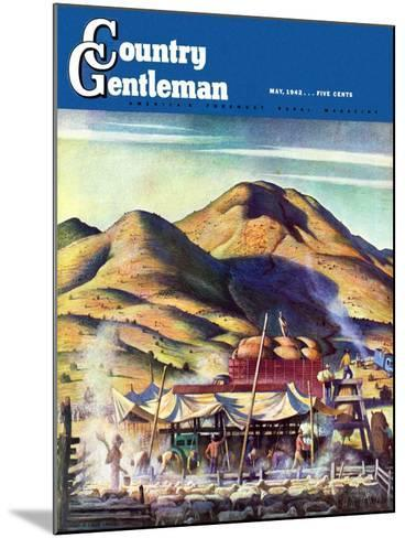 """""""Sheep Farm,"""" Country Gentleman Cover, May 1, 1942-Jean L. Huens-Mounted Giclee Print"""