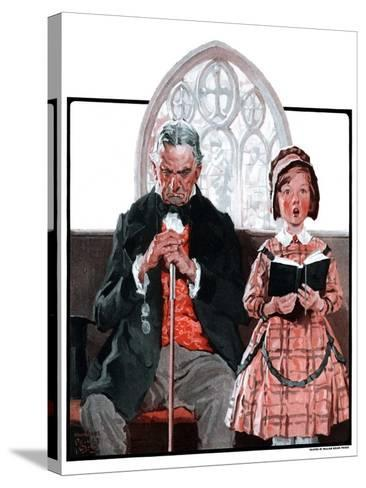 """""""Grandpa Sleeps, Girl Sings in Church,""""April 11, 1925-William Meade Prince-Stretched Canvas Print"""