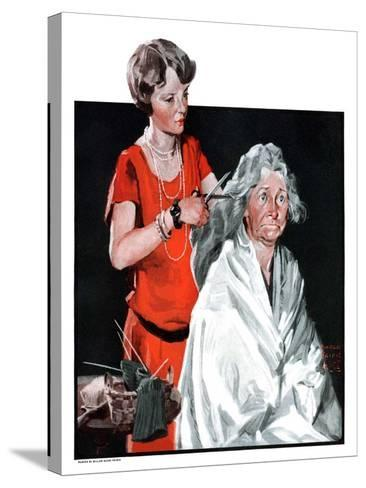 """Grandma Bobs Her Hair,""May 9, 1925-William Meade Prince-Stretched Canvas Print"