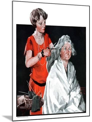 """Grandma Bobs Her Hair,""May 9, 1925-William Meade Prince-Mounted Giclee Print"