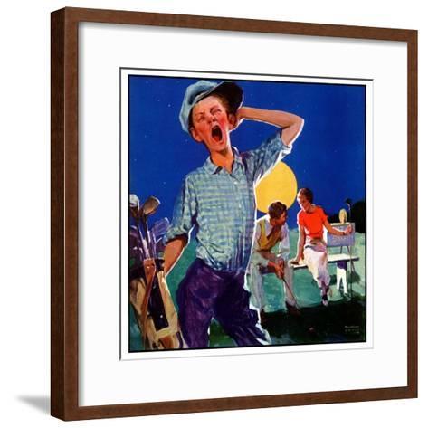 """Yawning Caddy,""July 1, 1935-William Meade Prince-Framed Art Print"