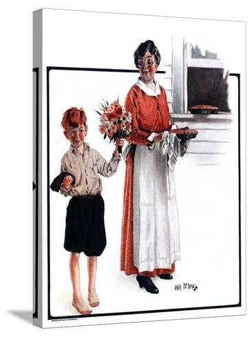 """""""Flowers for Pie,""""June 6, 1925-Angus MacDonall-Stretched Canvas Print"""