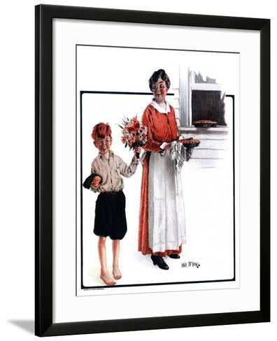"""""""Flowers for Pie,""""June 6, 1925-Angus MacDonall-Framed Art Print"""
