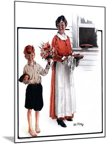 """Flowers for Pie,""June 6, 1925-Angus MacDonall-Mounted Giclee Print"