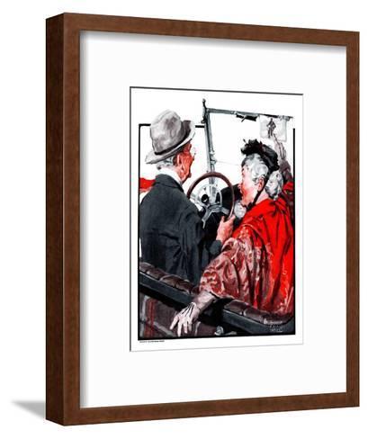 """Speeding Oldsters,""July 18, 1925-William Meade Prince-Framed Art Print"