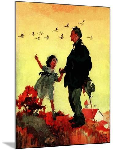 """Geese Flying South,""October 1, 1925-William Meade Prince-Mounted Giclee Print"