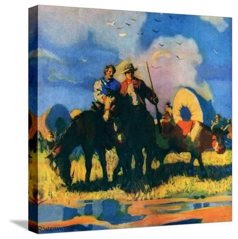 """Wagon Train,""March 1, 1926-R.W. Crowther-Stretched Canvas Print"