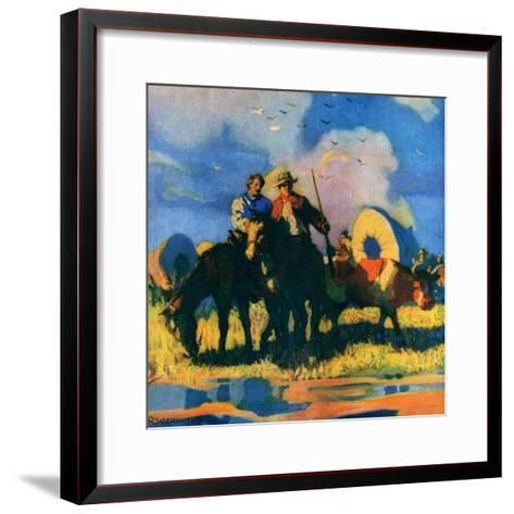 """Wagon Train,""March 1, 1926-R.W. Crowther-Framed Art Print"