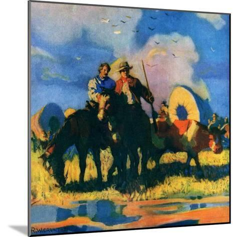 """Wagon Train,""March 1, 1926-R.W. Crowther-Mounted Giclee Print"