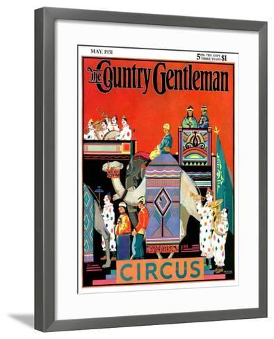 """""""Circus Parade,"""" Country Gentleman Cover, May 1, 1931- Kraske-Framed Art Print"""