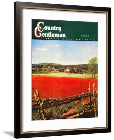"""Photographic Landscape,"" Country Gentleman Cover, August 1, 1945-R.A. Mawhinney-Framed Art Print"
