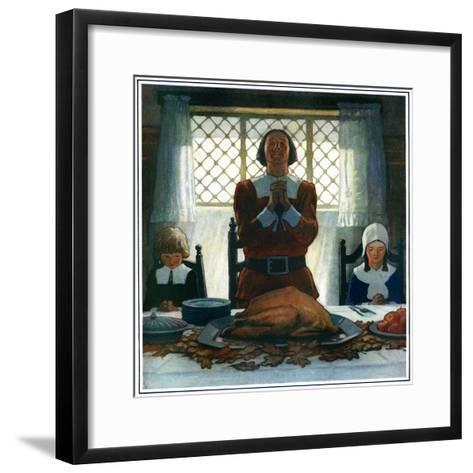 """An Early Thanksgiving,""November 1, 1926-Newell Convers Wyeth-Framed Art Print"