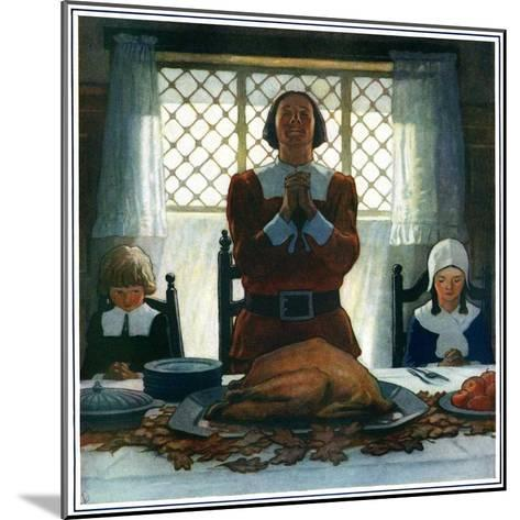 """""""An Early Thanksgiving,""""November 1, 1926-Newell Convers Wyeth-Mounted Giclee Print"""