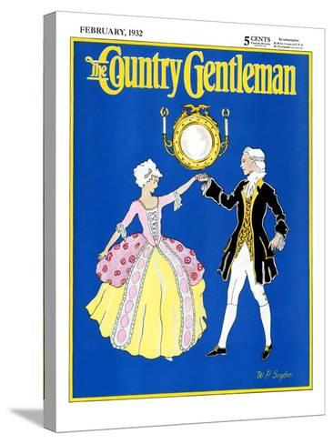 """""""The Minuet,"""" Country Gentleman Cover, February 1, 1932-W. P. Snyder-Stretched Canvas Print"""