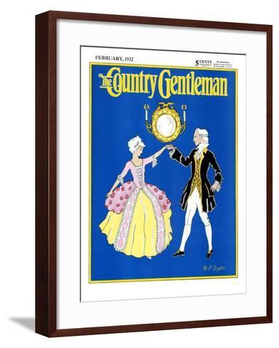 """""""The Minuet,"""" Country Gentleman Cover, February 1, 1932-W. P. Snyder-Framed Art Print"""