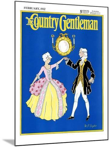 """""""The Minuet,"""" Country Gentleman Cover, February 1, 1932-W. P. Snyder-Mounted Giclee Print"""