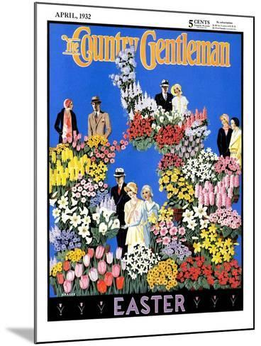 """""""Easter Flowers,"""" Country Gentleman Cover, April 1, 1932- Kraske-Mounted Giclee Print"""