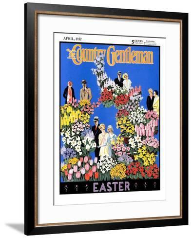 """Easter Flowers,"" Country Gentleman Cover, April 1, 1932- Kraske-Framed Art Print"