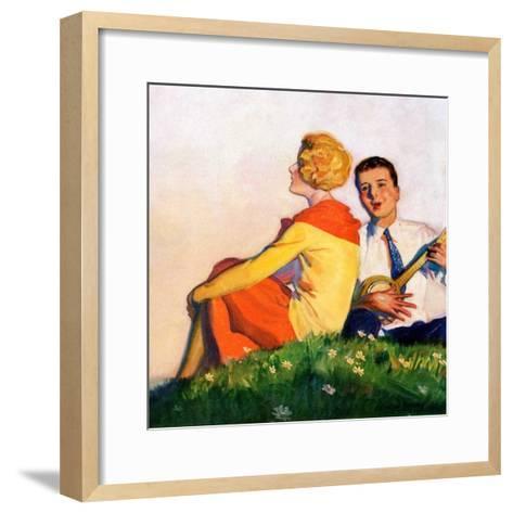 """Hillside Serenade,""May 1, 1928-McClelland Barclay-Framed Art Print"