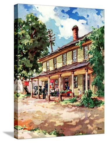 """Country Inn,""September 1, 1939-G. Kay-Stretched Canvas Print"