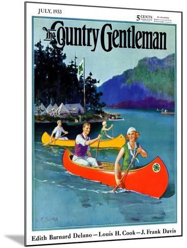 """""""Four-H Camp,"""" Country Gentleman Cover, July 1, 1933-W^F^ Soare-Mounted Giclee Print"""