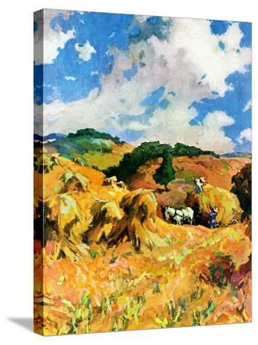 """""""Harvest Wheat,""""September 1, 1940--Stretched Canvas Print"""