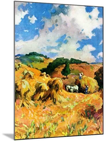 """Harvest Wheat,""September 1, 1940--Mounted Giclee Print"
