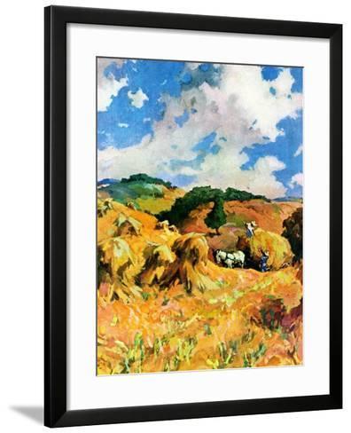 """""""Harvest Wheat,""""September 1, 1940--Framed Art Print"""