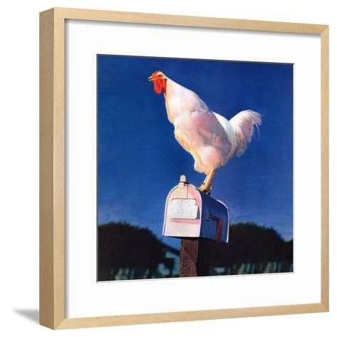 """Rooster on Mailbox,""May 1, 1941--Framed Art Print"