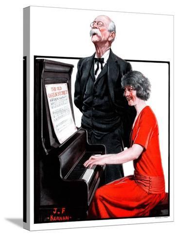 """Singing the Old Oaken Bucket,""February 17, 1923-J^F^ Kernan-Stretched Canvas Print"