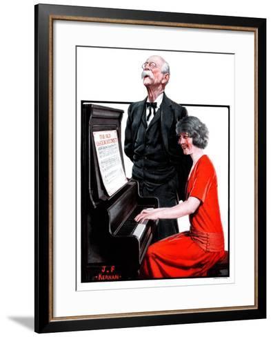 """Singing the Old Oaken Bucket,""February 17, 1923-J^F^ Kernan-Framed Art Print"