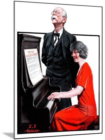 """""""Singing the Old Oaken Bucket,""""February 17, 1923-J^F^ Kernan-Mounted Giclee Print"""