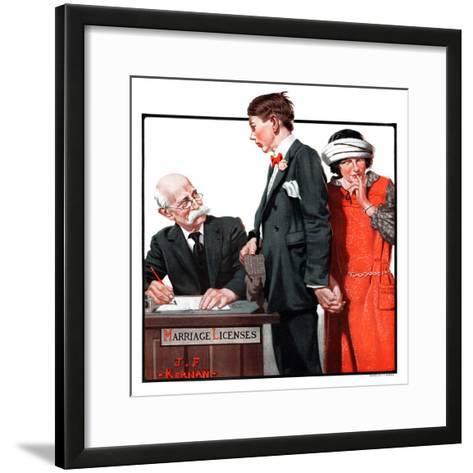 """Marriage License,""April 14, 1923-J^F^ Kernan-Framed Art Print"