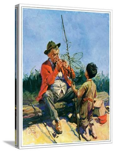 """""""Tangled Fishing Line,""""May 1, 1929-William Meade Prince-Stretched Canvas Print"""