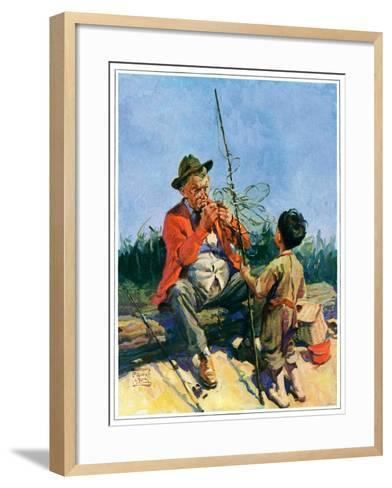 """""""Tangled Fishing Line,""""May 1, 1929-William Meade Prince-Framed Art Print"""