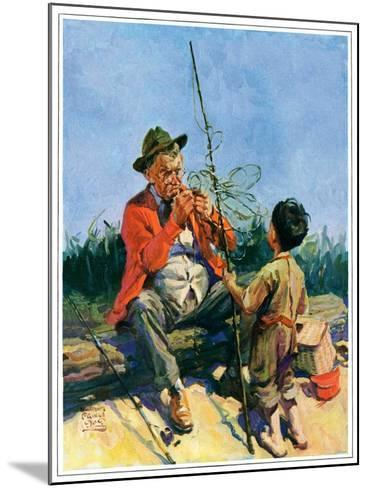 """""""Tangled Fishing Line,""""May 1, 1929-William Meade Prince-Mounted Giclee Print"""