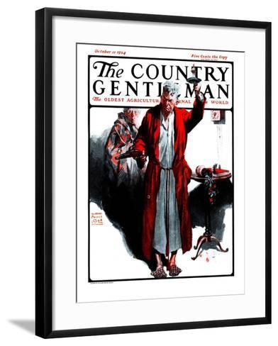"""""""Something Went Bump in the Night,"""" Country Gentleman Cover, October 11, 1924-William Meade Prince-Framed Art Print"""