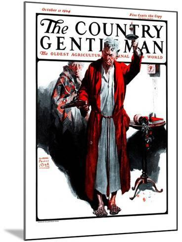 """""""Something Went Bump in the Night,"""" Country Gentleman Cover, October 11, 1924-William Meade Prince-Mounted Giclee Print"""
