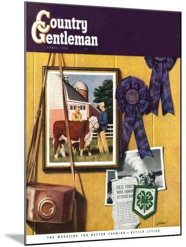 """4-H Momentos,"" Country Gentleman Cover, April 1, 1950-John Atherton-Mounted Giclee Print"