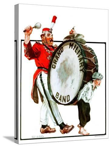 """Grand Military Band,""June 23, 1923-Angus MacDonall-Stretched Canvas Print"