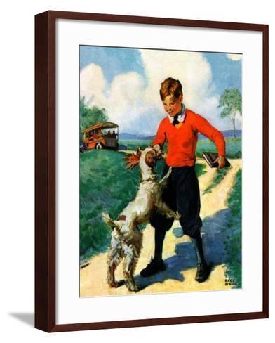 """""""School's Out,""""June 1, 1930-Ray C. Strang-Framed Art Print"""