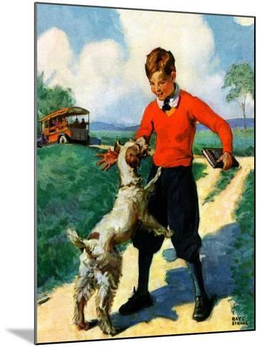 """""""School's Out,""""June 1, 1930-Ray C. Strang-Mounted Giclee Print"""